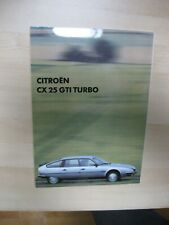Citroen CX 25 GTi Turbo Press Kit photo Presse Foto 1984 brochure langue françai