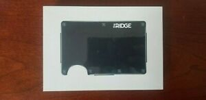 The Ridge Wallet Aluminum - Black + Money Clip *NEW UNOPENED*