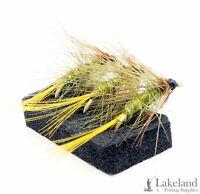 3x, 6x or 12x Burkinshaw Bumble Wet Trout Flies for Fly Fishing