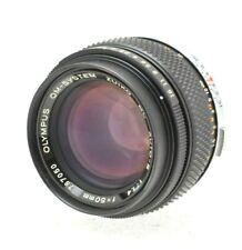 Olympus 50mm f/1.4 Zuiko Auto-S Standard Prime lens with caps #787050