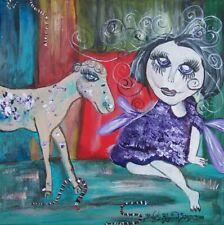 PLUM FAERY LaMancha Goat King Snakes Faeries Fae Big Eye Art Print 8 x 10 KSAMS