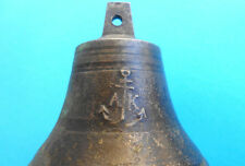 "1800's BEAUTIFULL ANTIQUE BRASS SHIP'S BELL - size 3.1"" x 3.3"" - PERFECT WORKING"