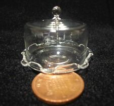 1;12 Scale Glass Cake Stand & Cover Dolls House Miniature Food Accessory F1