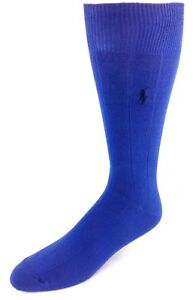 Polo Ralph Lauren Oxford Crew Socks 3-Pack Royal Blue with Navy Logo