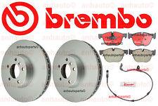 Genuine Brembo Set Front Rotors + Ceramic Brake Pad + Sensor BMW X5 xDrive30