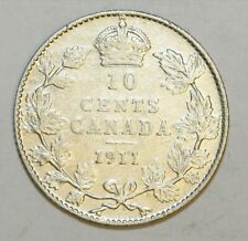 1911 Canada 10 Cents Coin