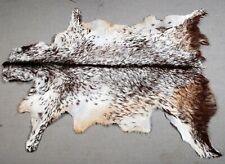 "New Goat hide Rug Hair on Area Rug Size 40""x26"" Animal Leather Goat Skin U-9559"