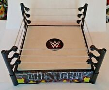 WWE USED Hell in a Cell Action Figure Wrestling Ring Mattel Spring Loaded Works