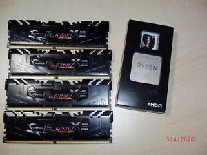 Postprozessor AMD Ryzen 7 1800x + 32MB G.Skill (4x8MB) Riegel