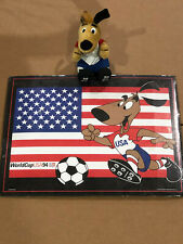 USA 1994 World Cup Soccer Commemorative Poster Sealed with Mascot Plush Toy