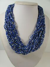 Lee Sands Wacky Friday Multi Strand Glass Seed Bead Necklace