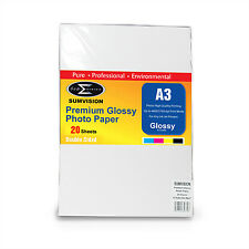 SUMVISION GLOSS A3 DOUBLE SIDED INKJET PRINTER PHOTO PAPER 180GSM 20 SHEETS
