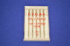 Top Stitch Sewing Machine Needle Organ size 14 WORK ON Brother + more
