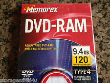 MEMOREX DVD-RAM 9.4GB Double-sided Cartridge TYPE4 (disc removable)
