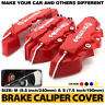 4Pc/Set 3D Red Style Car Universal Disc Brake Caliper Cover Front & Rear Kit M+S