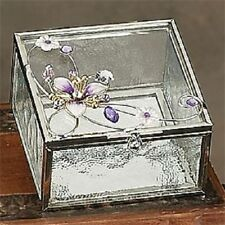 New Orchid Purple Crystal Square Crystal Jewelry Box Container
