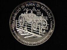 1973 Netherlands Antilles 25th Anniversary Queen Juliana Proof