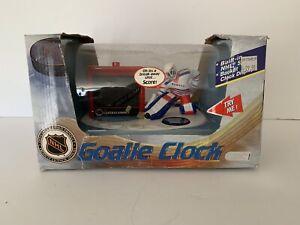 Vintage NHL New York Rangers Goalie Digital Alam Clock New In Box