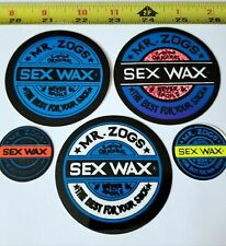 Sex Wax  3 inch Yellow and Silver Surf Sticker Decal