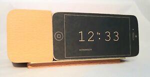 Areaware Jonas Damon Universal Alarm Dock For iPhone 5 and 6 Natural Wooden Dock