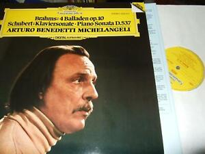 MICHELANGELI : BRAHMS 4 BALLADEN OP.10 LP 1981 DGG DIGITAL GERMANY +INSERT