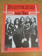 Mr Big - Romeo - Music Sheet.