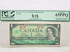 "🍁 1967 Canada $1 Note ""Centennial Issue"" BC-45a PCGS GEM NEW UNC 65 PPQ"