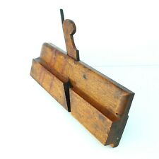 "Antique 9-3/8"" Wood Beech Side Bead Molding Plane : E. BALDWIN Albany 1807-1829"
