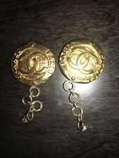 Authentic Vintage Chanel CC Logo Earring