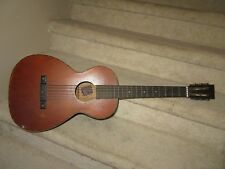 Vintage Supertone PARLOR GUITAR Sears Roebuck & Co.Mahogany & Spruce Needs TLC!