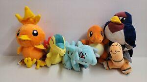 Vintage Pokemon Plush Lot Cyndaquil Charmander Tailow Torkoal Nidorina Torchic