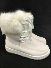 UGG Australia Women's Gracie Waterproof White Leather Lace Up Boots 1105769