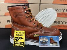 "Men's 6"" Soft Moc Toe Safety Oil Slip Resistant Waterproof Leather Work Boots"