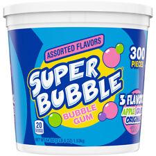Super Bubble Grape, Apple and Original Assorted Bubble Gum, 54 Oz, 300 Count