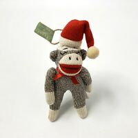 Plush Fabric Sock Monkey Christmas Ornament Midwest of Cannon Falls