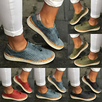 Women Breathable Slip On Trainers Sneakers Pumps Flat Casual Comfy Loafers Shoes