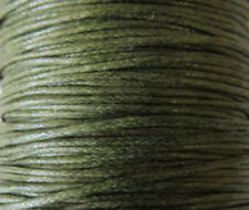 1mm Genuine Olive Natural Cotton Wax Cord -25 Yards Jewelry Supplies