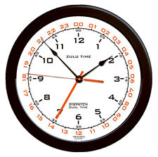 "Zulu Time Aviation Wall Clock by Trintec - 14"" -  White Face - ZT14-2"