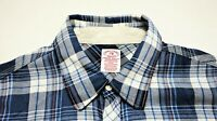 SCOTCH & SODA Men's Long Sleeve Plaid Cotton Shirt w/ Elbow patches size Small