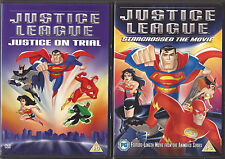 DC COMICS - JUSTICE LEAGUE DVD BUNDLE-Star Crossed, The Movie + Justice On Trial