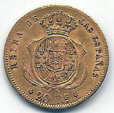 Isabel II 20 Reales 1861 Madrid Oro @ Muy Bella @