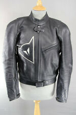 CLASSIC DAINESE BLACK LEATHER BIKER JACKET WITH CE SHOULDER & ELBOW ARMOUR 38 IN