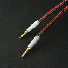 High Quality 3.5mm Aux Auxiliary Audio Cable for Headphones Car/Home Stereos Red