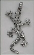 PEWTER CHARM #1108 GECKO (52mm x 27mm) 1 large bail PENDANT
