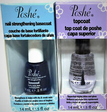 POSHE Duo Nail Strengthening Basecoat and Topcoat - 14ml/0.5oz