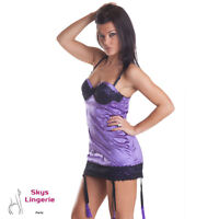 Josy, nuisette sexy coloris violet skys lingerie taille M/L