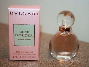 BVLGARI Rose Goldea Blossom Delight Perfume .17 oz / 5mL Travel Size Mini 0.17