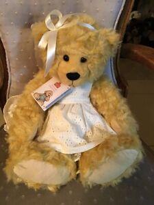 "ALICE'S BEAR SHOP SANDY PLUSH BEAR  BY CHARLIE BEARS * 15"" NEW WITH TAGS"