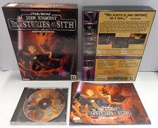Big Box PC CD-ROM ITA STAR WARS JEDI KNIGHT Mysteries of the Sith Missioni Agg.