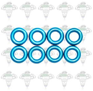Fuel Injector Seals Viton 15mm od x 7.8mm id x 3.7mm 4 Cylinders - Kit 52